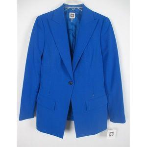 Anne Klein Womens One-Button Blazer Jacket Sz 4